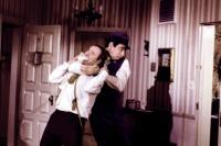 BUDDY BUDDY, Jack Lemmon, Walter Matthau, 1981, dragging away
