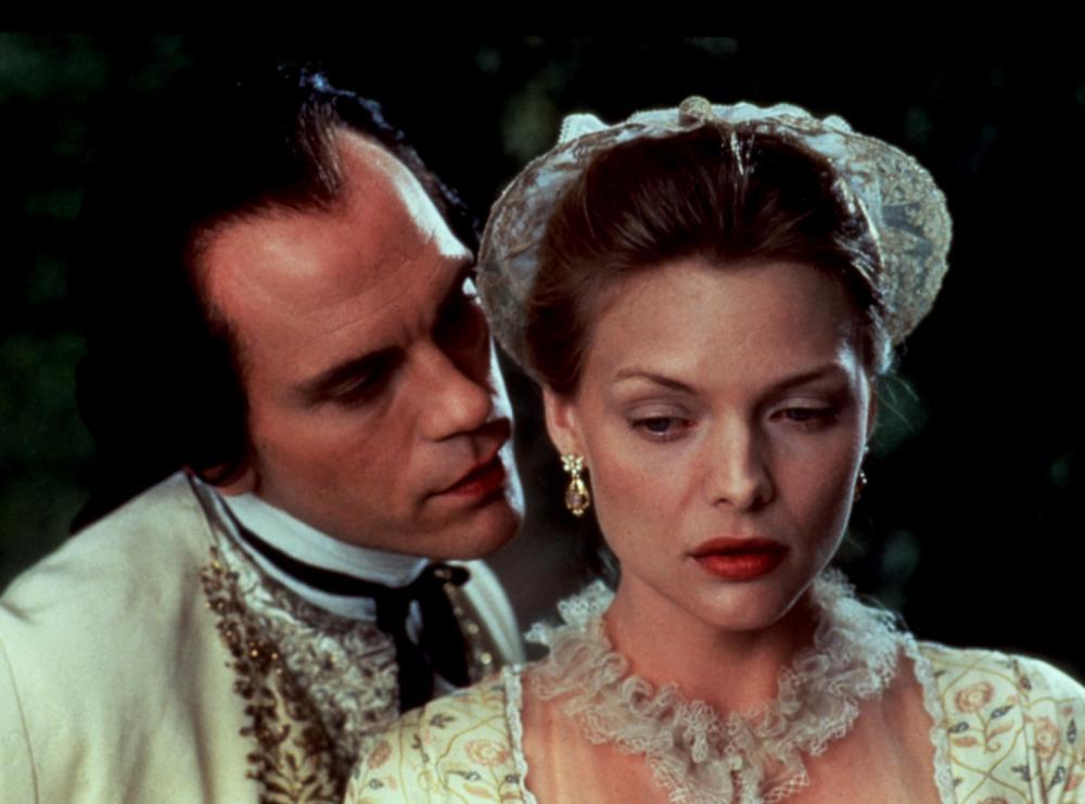 DANGEROUS LIAISONS, John Malkovich, Michelle Pfeiffer, 1988