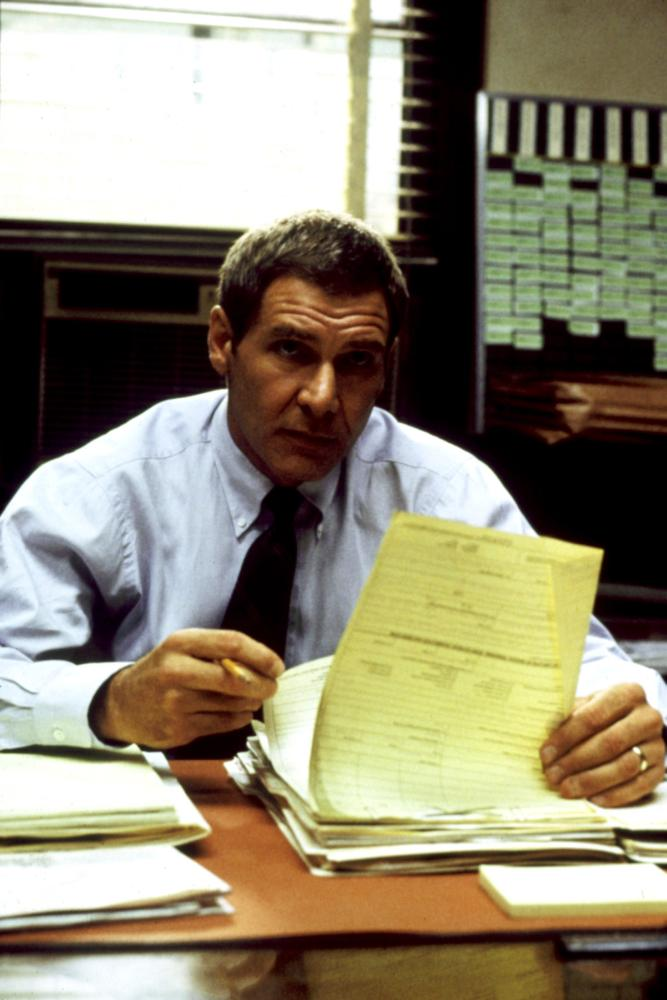 PRESUMED INNOCENT, Harrison Ford, 1990