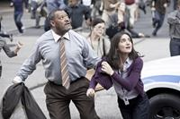 MAN OF STEEL, from left: Laurence Fishburne, Rebecca Buller, 2013. ph: Clay Enos/©Warner Bros. Pictures