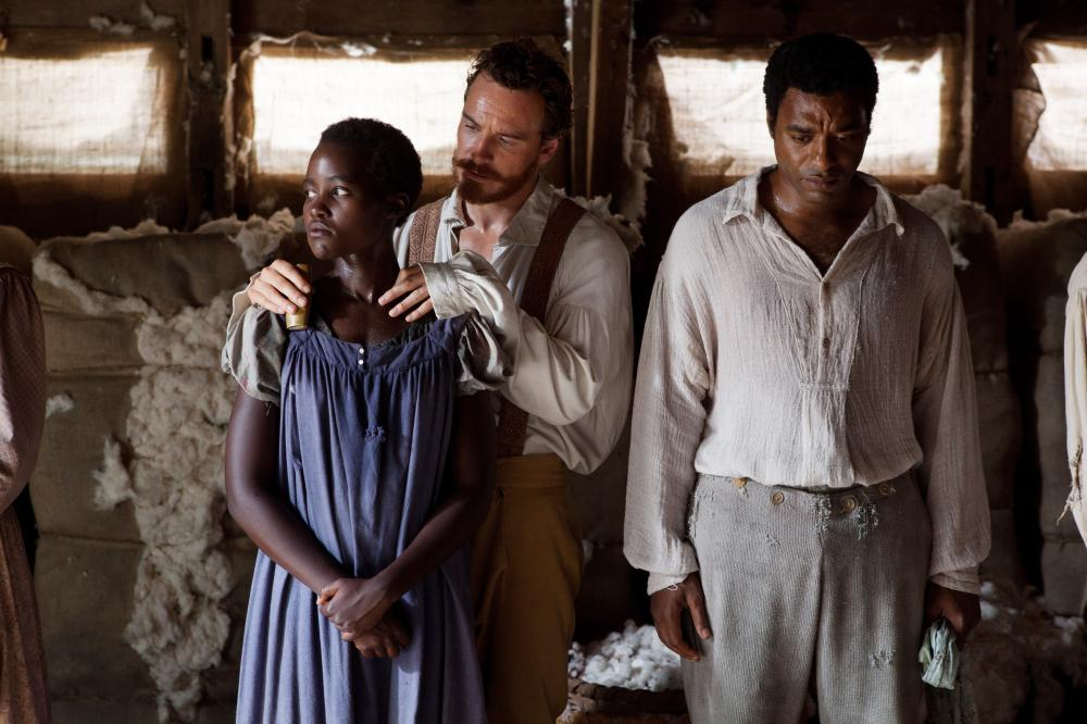 12 YEARS A SLAVE, from left: Lupita Nyong'o, Michael Fassbender, Chiwetel Ejiofor, 2013. ph: Francois Duhamel/TM and Copyright ©Fox Searchlight Pictures. All rights reserved.