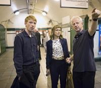 ABOUT TIME, from left: Domhnall Gleeson, Rachel McAdams, director Richard Curtis, on set, 2013. ph: Murray Close/©Universal