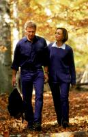 RANDOM HEARTS, Harrison Ford, Kristin Scott Thomas, 1999, autumn leaves
