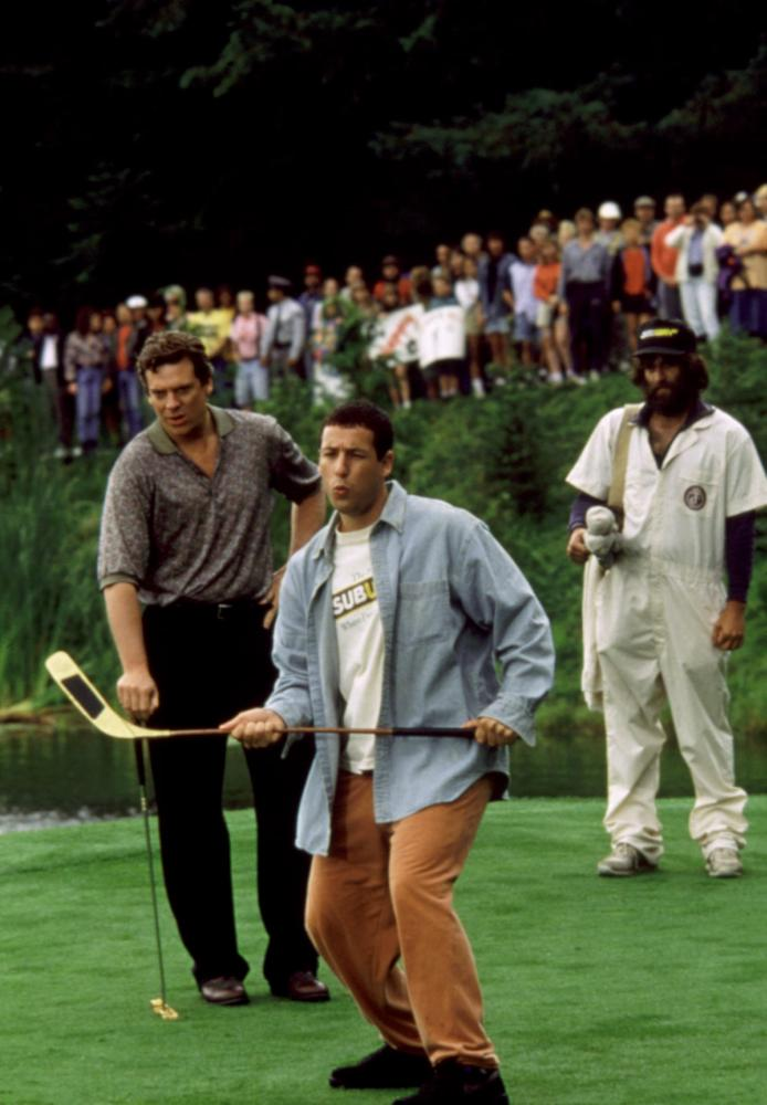 HAPPY GILMORE, Christopher McDonald, Adam Sandler, 1996, golf club