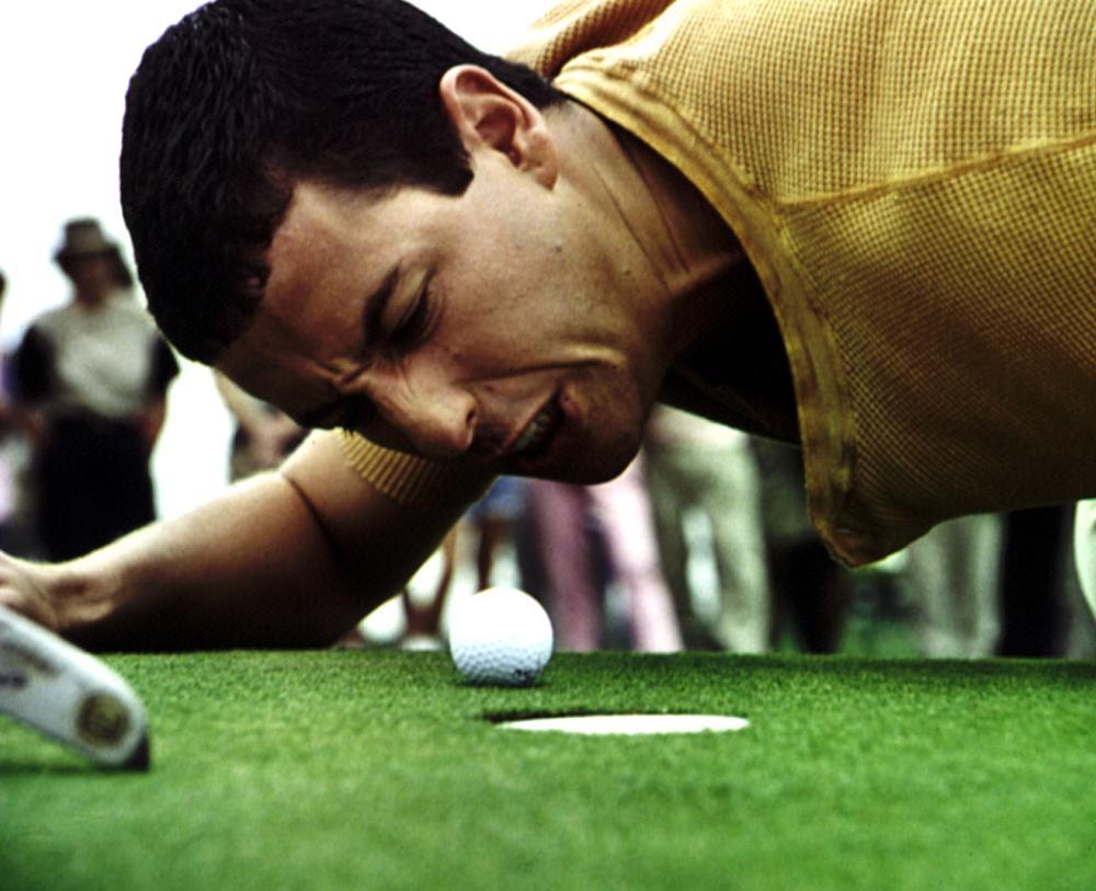 HAPPY GILMORE, Adam Sandler, 1996, golf ball