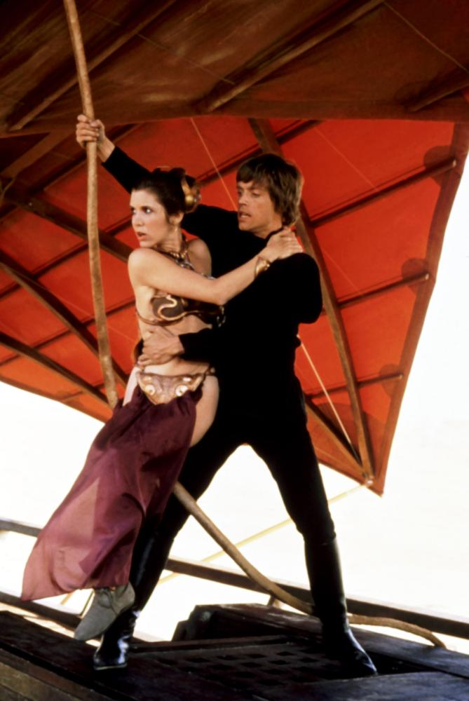 RETURN OF THE JEDI, Carrie Fisher, Mark Hamill, 1983