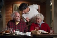 NEBRASKA, from left: Bruce Dern, director Alexander Payne, June Squibb, on set, 2013. ph: Merie W. Wallace/©Paramount Pictures