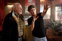 NEBRASKA, from left: Bruce Dern, director Alexander Payne, on set, 2013. ph: Merie W. Wallace/©Paramount Pictures