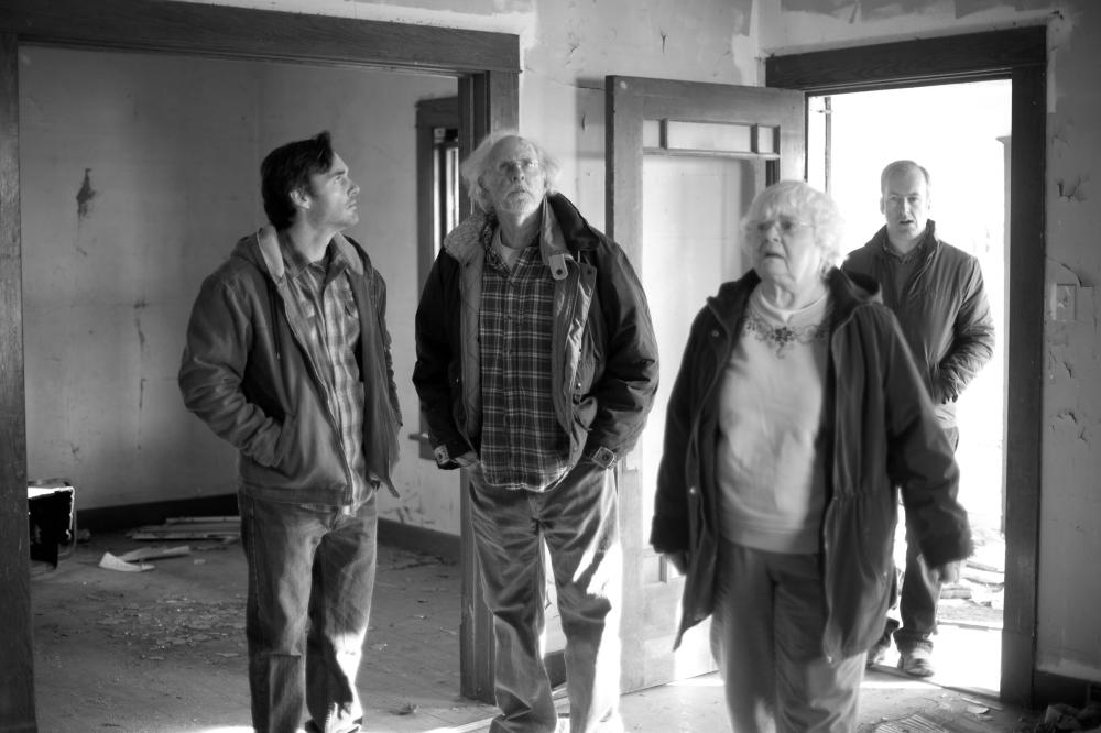NEBRASKA, from left: Will Forte, Bruce Dern, June Squibb, Bob Odenkirk, 2013. ph: Merie W. Wallace/©Paramount Pictures
