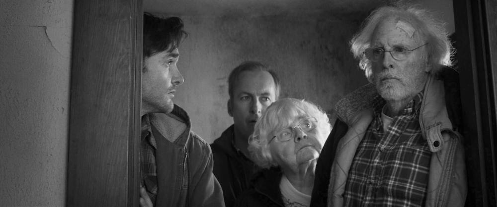 NEBRASKA, from left: Will Forte, Bob Odenkirk, June Squibb, Bruce Dern, 2013. ©Paramount Pictures