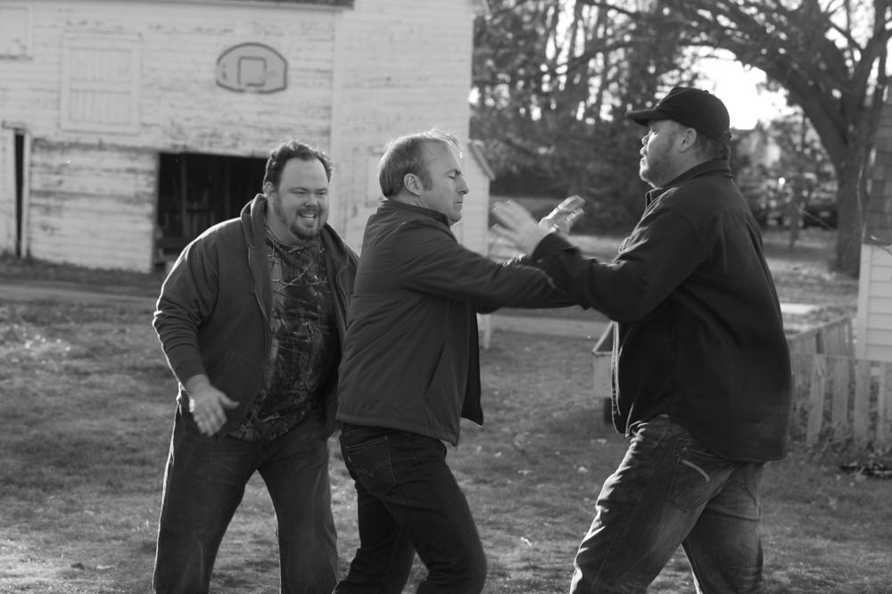 NEBRASKA, from left: Tim Driscoll, Bob Odenkirk, Devin Ratray, 2013. ph: Merie W. Wallace/©Paramount Pictures