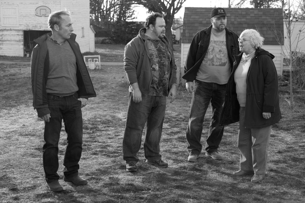 NEBRASKA, from left: Bob Odenkirk, Tim Driscoll, Devin Ratray, June Squibb, 2013. ph: Merie W. Wallace/©Paramount Pictures