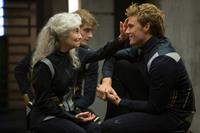 THE HUNGER GAMES: CATCHING FIRE, from left: Lynn Cohen, Sam Claflin, 2013. ph: Murray Close/©Lionsgate