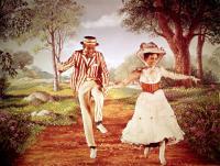 MARY POPPINS, Dick Van Dyke, Julie Andrews, 1964