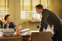 SAVING MR. BANKS, from left: Emma Thompson, Tom Hanks, as Walt Disney, 2013. ph: Francois Duhamel/©Walt Disney Studios Motion Pictures