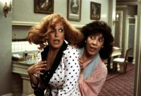 BIG BUSINESS, Bette Midler, Lily Tomlin, 1988, fear and panic in the hotel