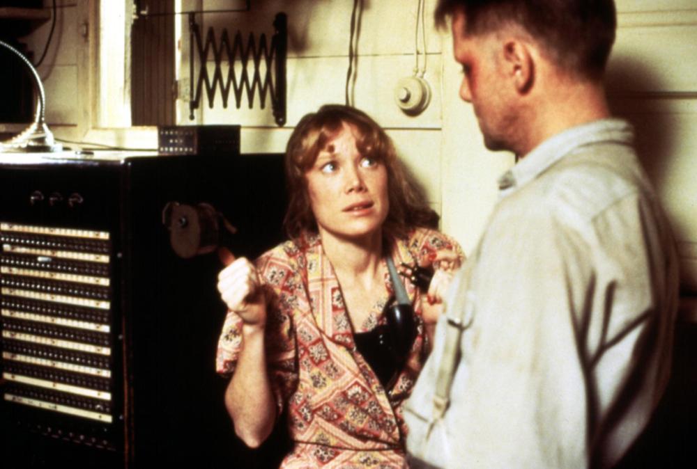 RAGGEDY MAN, Sissy spacek, William Sanderson, 1981, cowering in fear