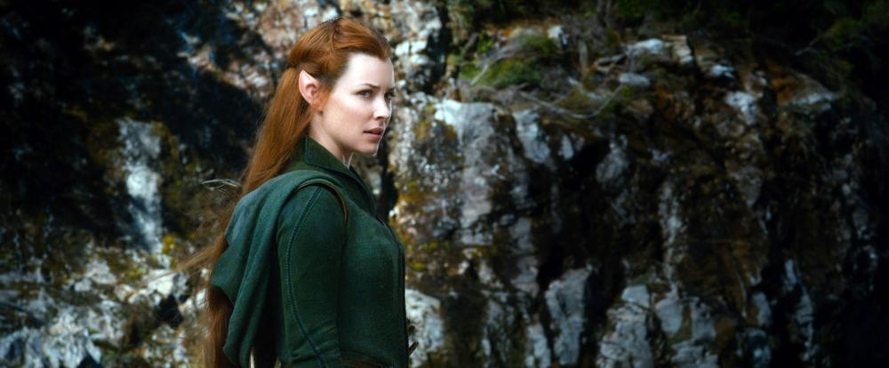 THE HOBBIT: THE DESOLATION OF SMAUG, Evangeline Lilly, 2013./©Warner Bros. Pictures