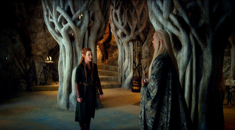 THE HOBBIT: THE DESOLATION OF SMAUG, from left: Evangeline Lilly, Lee Pace, 2013./©Warner Bros. Pictures