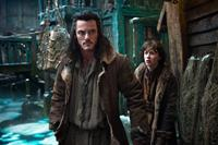 THE HOBBIT: THE DESOLATION OF SMAUG, from left: Luke Evans, John Bell, 2013./©Warner Bros. Pictures