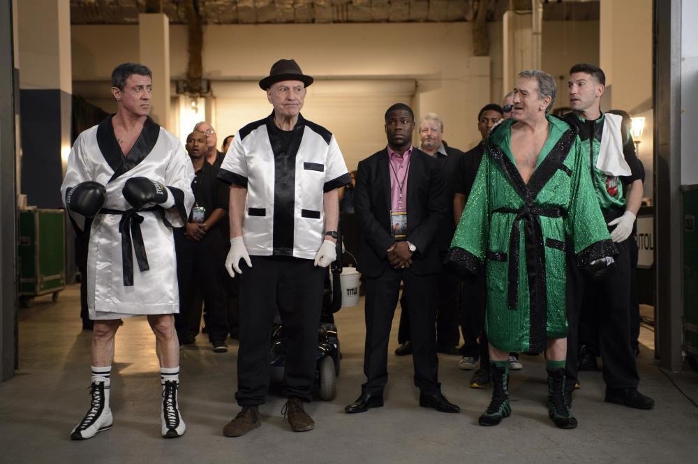 GRUDGE MATCH, from left: Sylvester Stallone, Alan Arkin, Kevin Hart, Robert De Niro, Jon Bernthal, 2013. ph: Ben Rothstein/©Warner Bros.