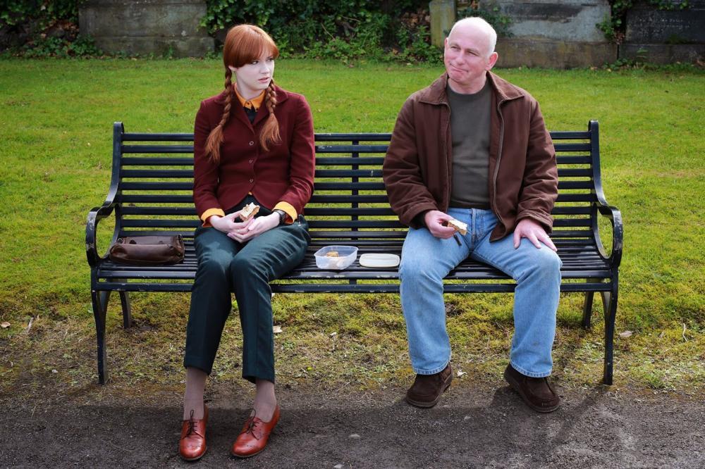 NOT ANOTHER HAPPY ENDING, from left: Karen Gillan, Gary Lewis, 2013