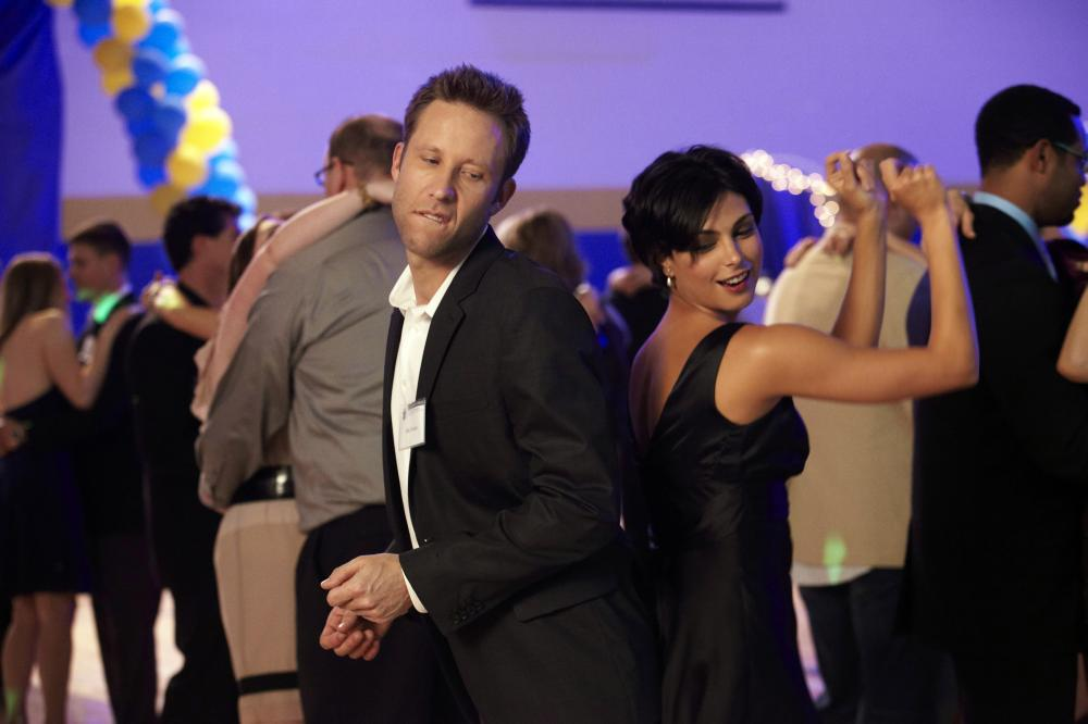 BACK IN THE DAY, from left: Michael Rosenbaum, Morena Baccarin, 2014. ©Screen Media Films