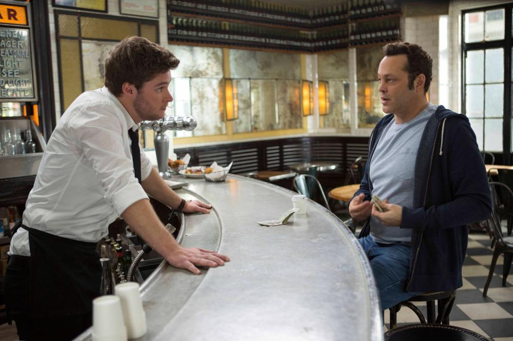 DELIVERY MAN, from left: Jack Reynor, Vince Vaughn, 2013. ph: Jessica Miglio/©Walt Disney Studios Motion Pictures