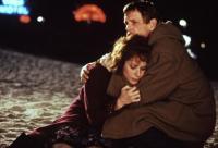 EVERYBODY WINS, Debra Winger, Nick Nolte, 1990, comforting on the beach