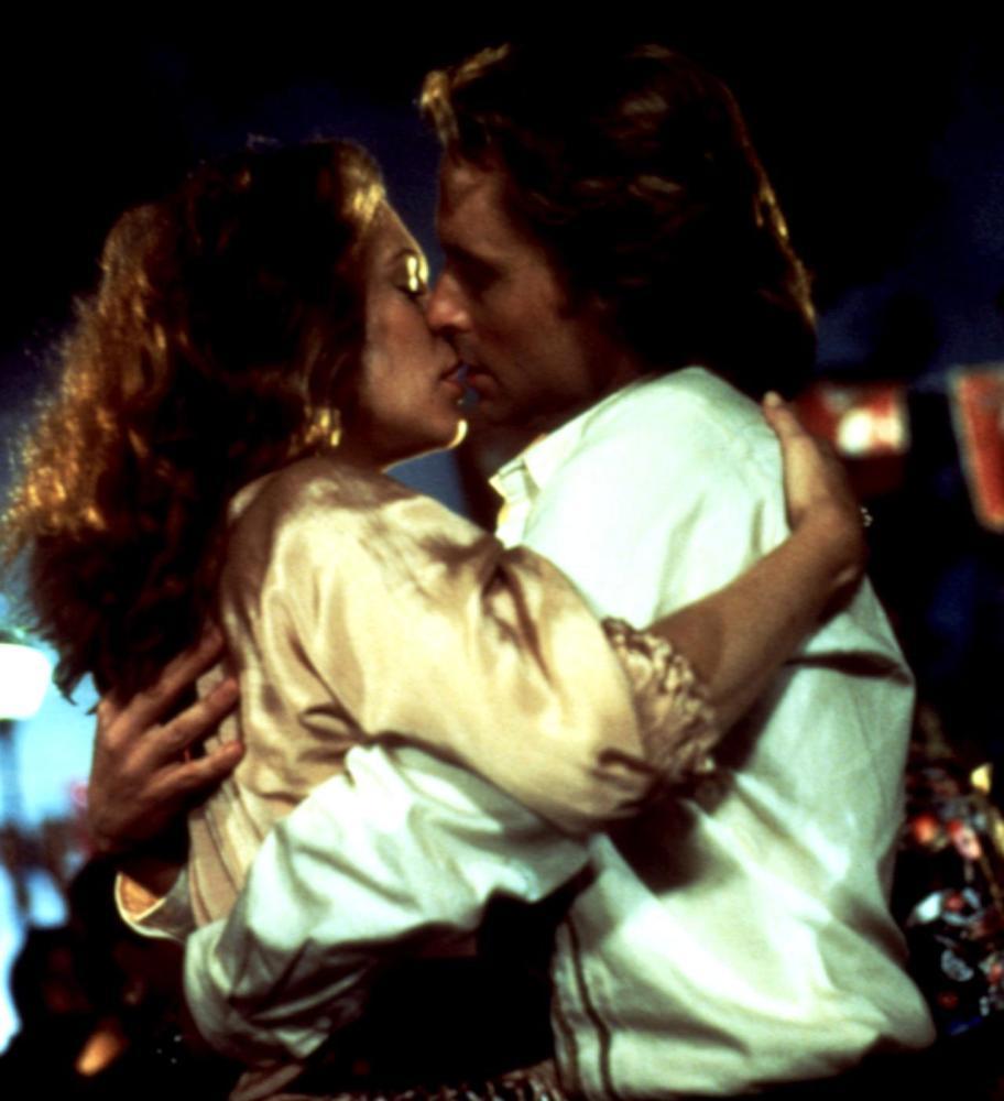ROMANCING THE STONE, Kathleen Turner, Michael Douglas, 1984