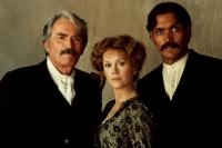 OLD GRINGO, Gregory Peck, Jane Fonda, Jimmy Smits, 1989