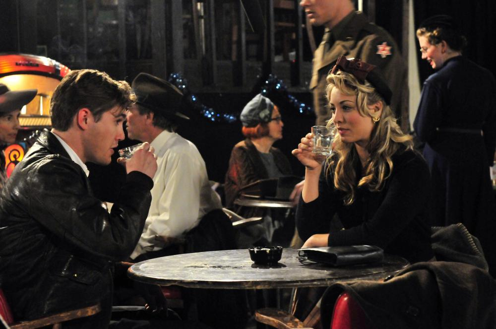 THE LAST RIDE, from left: Jesse James, Kaley Cuoco, 2012. ph: Melody Gaither/©Category One Entertainment