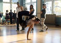 STEP UP: ALL IN, front: Christopher Scott, back, from left: Ryan Guzman, Briana Evigan, Parris Goebel, 2014. ph: James Dittger/©Summit