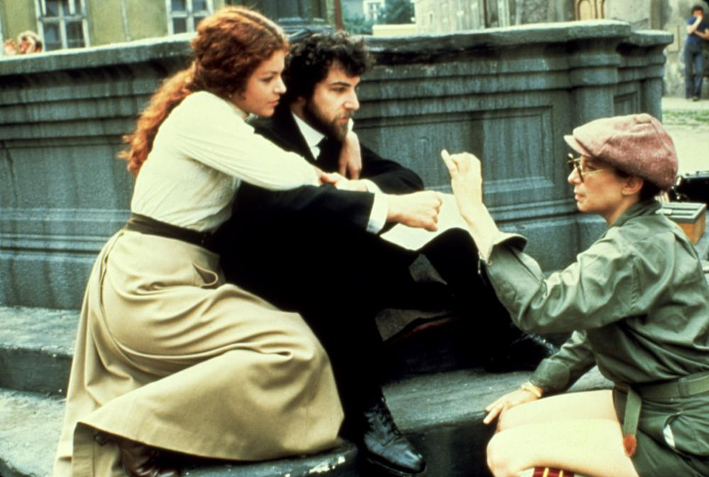 YENTL, Amy Irving, Mandy Patinkin, Barbra Streisand, 1983, directing the actors