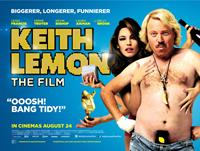 KEITH LEMON: THE FILM, British poster art, from left: Verne Troyer, Kelly Brook, Leigh Francis, 2012. ©Lionsgate
