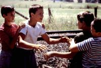 STAND BY ME, Wil Wheaton, River Phoenix, Corey Feldman, Jerry O'Connell, 1986