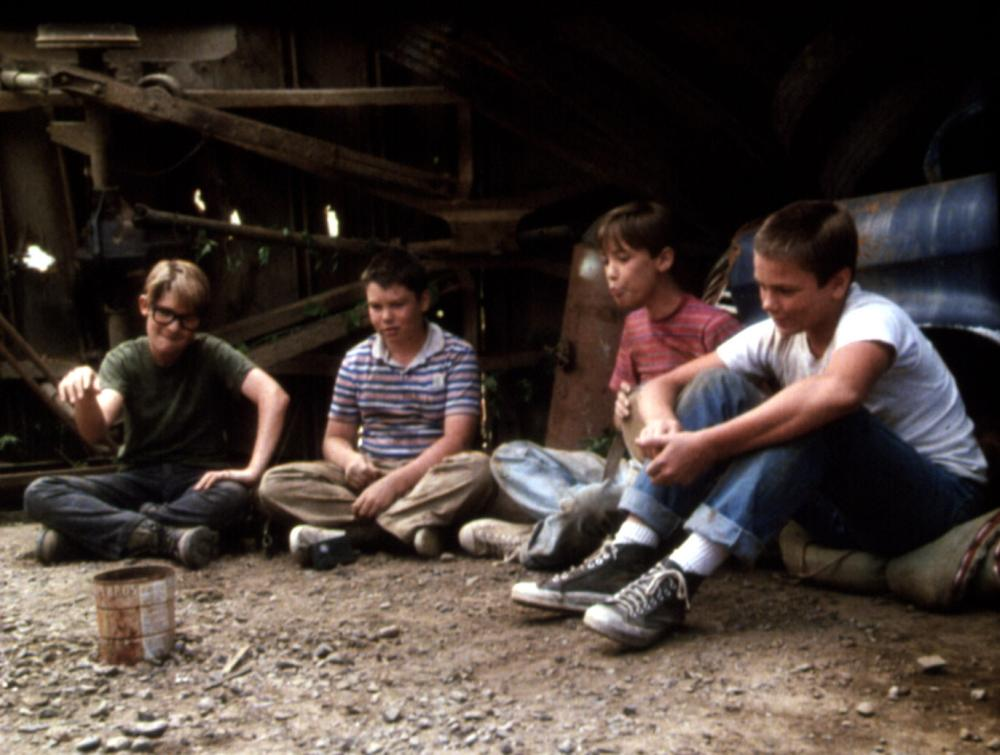 STAND BY ME, Corey Feldman, Jerry O'Connell, Wil Wheaton, River Phoenix, 1986