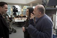 WINTER'S TALE, l-r: Colin Farrell, Jennifer Connelly, director Akiva Goldsman, 2014, ph: David C. Lee/©Warner Bros. Pictures