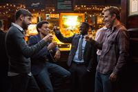 ABOUT LAST NIGHT, from left: David Greenman, Michael Ealy, Kevin Hart, Bryan Callen, 2014. ph: Matt Kennedy/©Sony Pictures