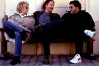 FRENCH KISS, from left: Meg Ryan, Kevin Kline, director Lawrence Kasden on set, 1995, TM and Copyright (c) 20th Century Fox Film Corp. All rights reserved. Meg Ryan, Kevin Kline, Lawrence Kasdan, 1995