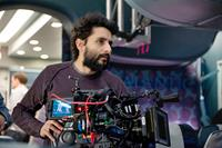 NON-STOP, director Jaume Collet-Serra, on set, 2014. ph: Myles Aronowitz/©Universal
