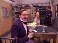 THE GRAND BUDAPEST HOTEL, from left: Ralph Fiennes, Saoirse Ronan, Tony Revolori, 2014. ph: Bob Yeoman/TM and Copyright ©Fox Searchlight Pictures