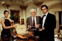 LICENSE TO KILL, Carey Lowell, Desmond Llewelyn, Timothy Dalton, 1989