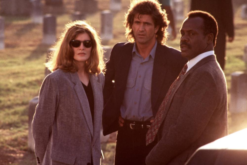 LETHAL WEAPON 3, Rene Russo, Mel Gibson, Danny Glover, 1992.
