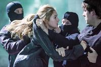 DIVERGENT, l-r: Shailene Woodley, Christian Madsen, 2014, ph: Jaap Buitendijk/©Summit Entertainment