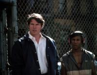 STREET SMART, Christopher Reeve (left), 1987