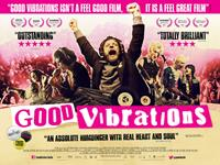 GOOD VIBRATIONS, British poster art, from left: Jodie Whittaker, Kerr Logan, Richard Dormer, Mark Ryder, Killian Scott, Diarmuid Noyes, 2012. ©The Works