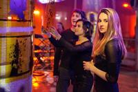 DIVERGENT, from left: Ben Lloyd-Hughes, Zoe Kravitz, Shailene Woodley, 2014. ph: Jaap Buitendijk/©Summit Entertainment