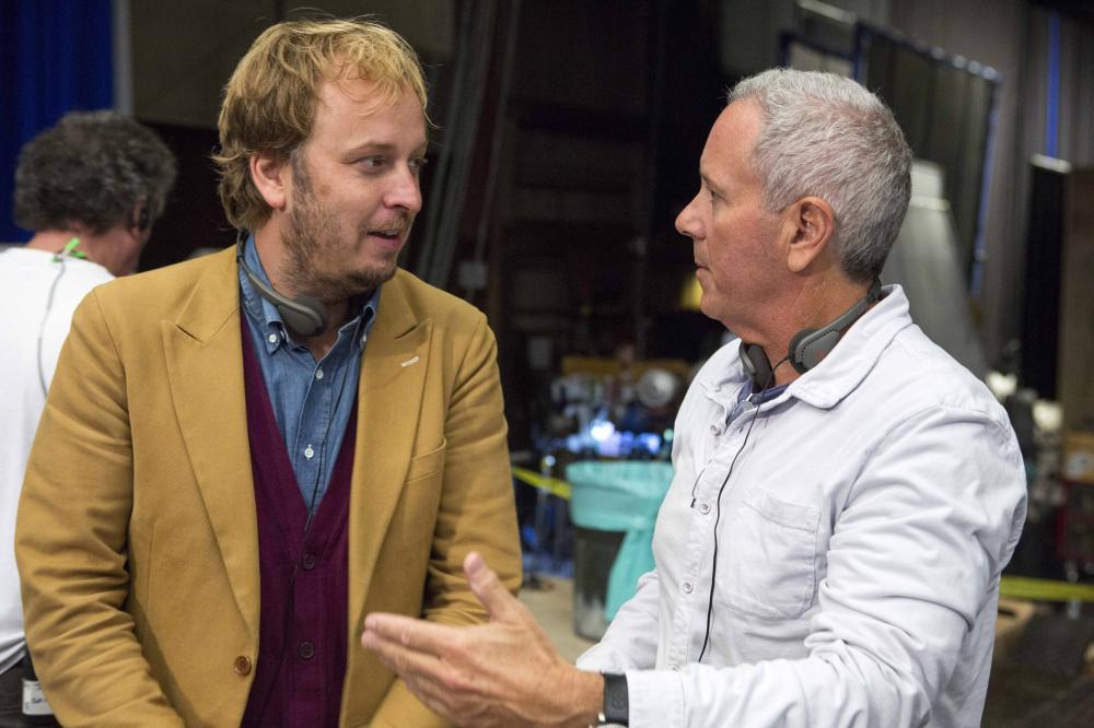 MUPPETS MOST WANTED, l-r: director James Bobin, producer David Hoberman on set, 2014, ph: Mark Fellman/©Walt Disney Pictures