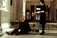 WONDER BOYS, Michael Douglas, Frances McDormand, 2000, injured on the floor